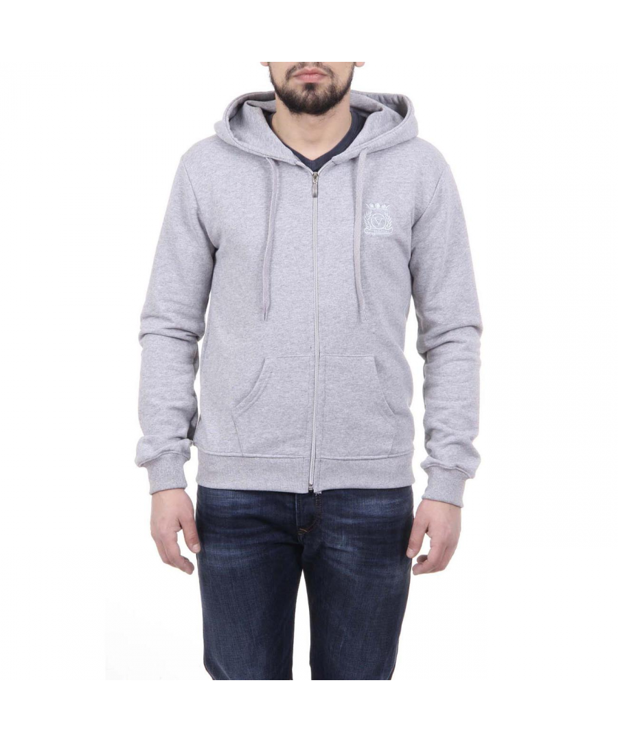Image for V 1969 Italia Mens Hoodie With Zip ART. 4468 LIGHT GREY