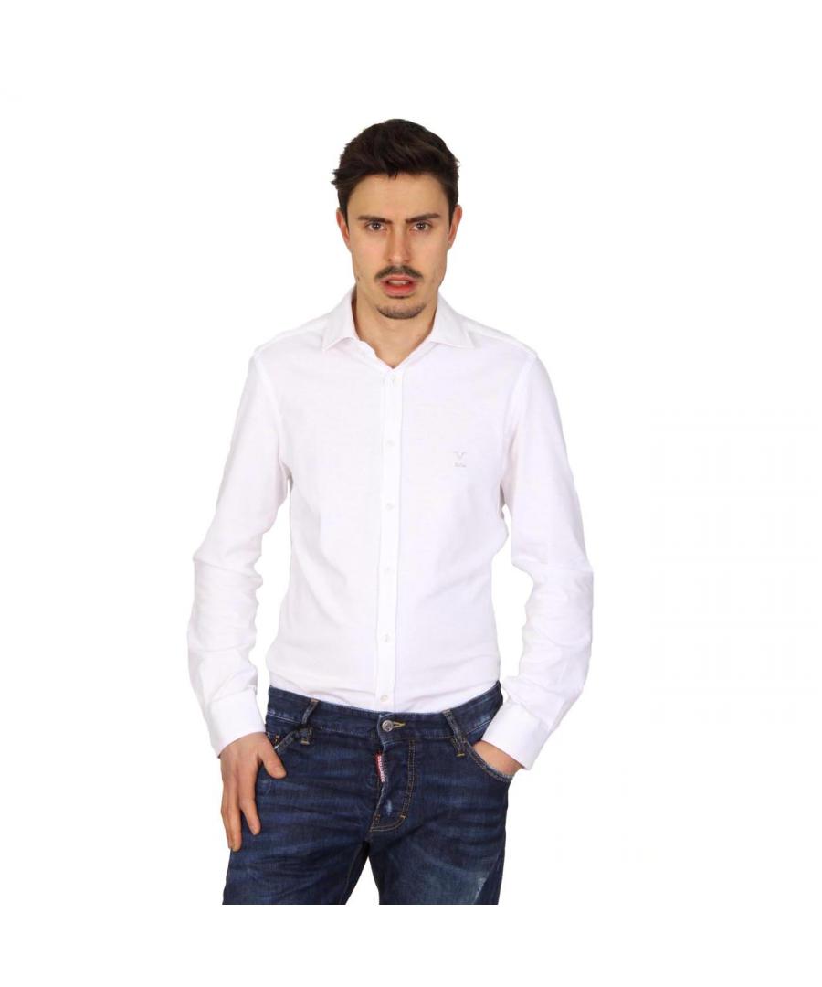 Image for V 1969 Italia mens long sleeve shirt Paris Jersey Bianco