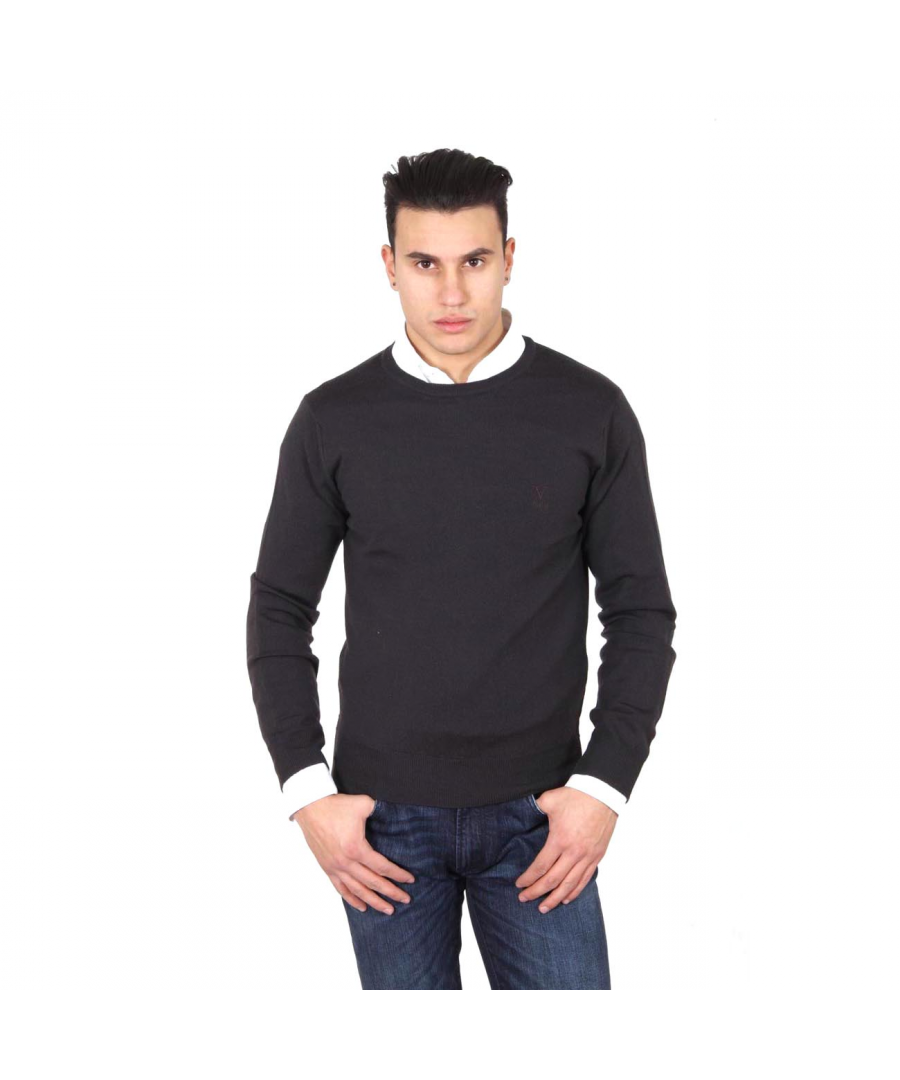 Image for V 1969 Italia mens round neck sweater 9800 GIROCOLLO MORO