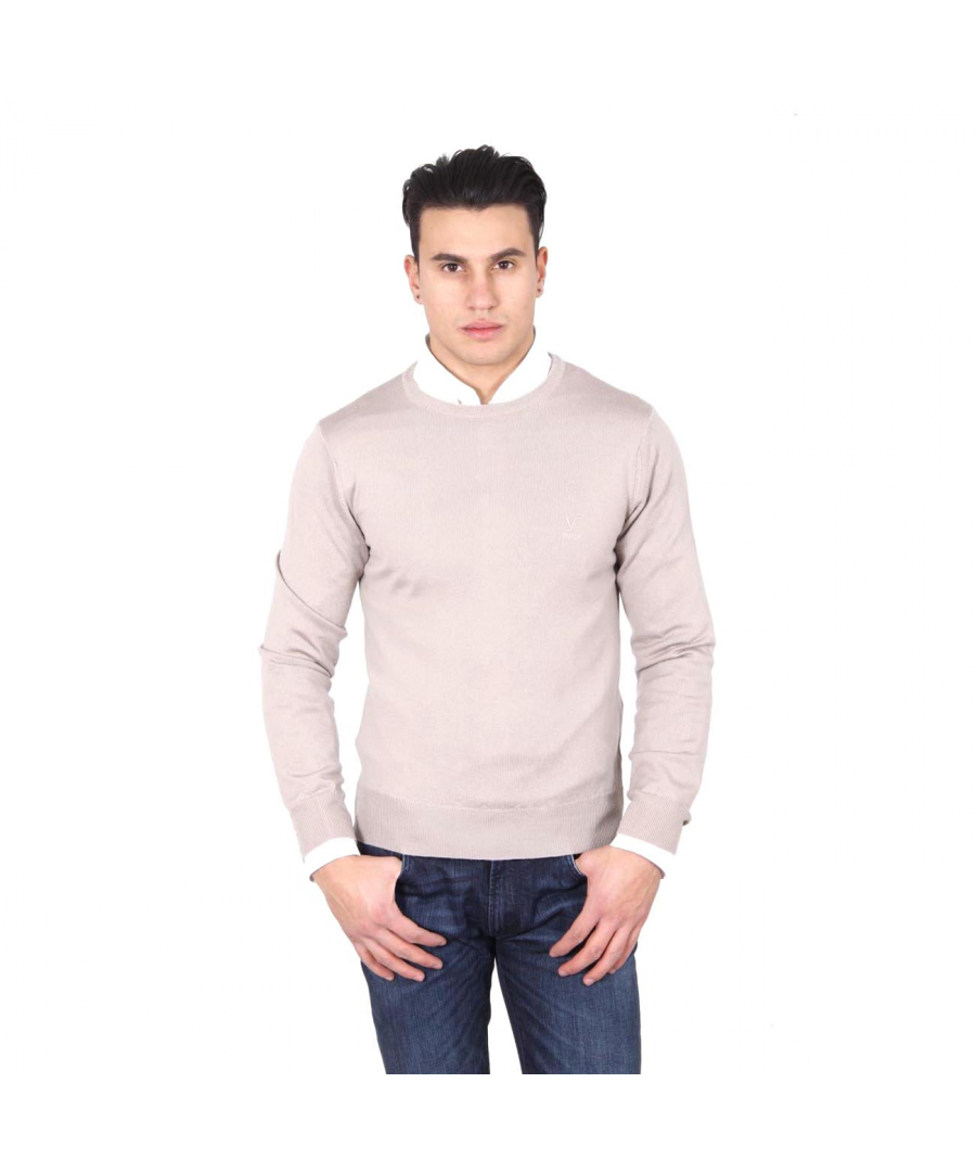 Image for V 1969 Italia mens round neck sweater 9800 GIROCOLLO SABBIA