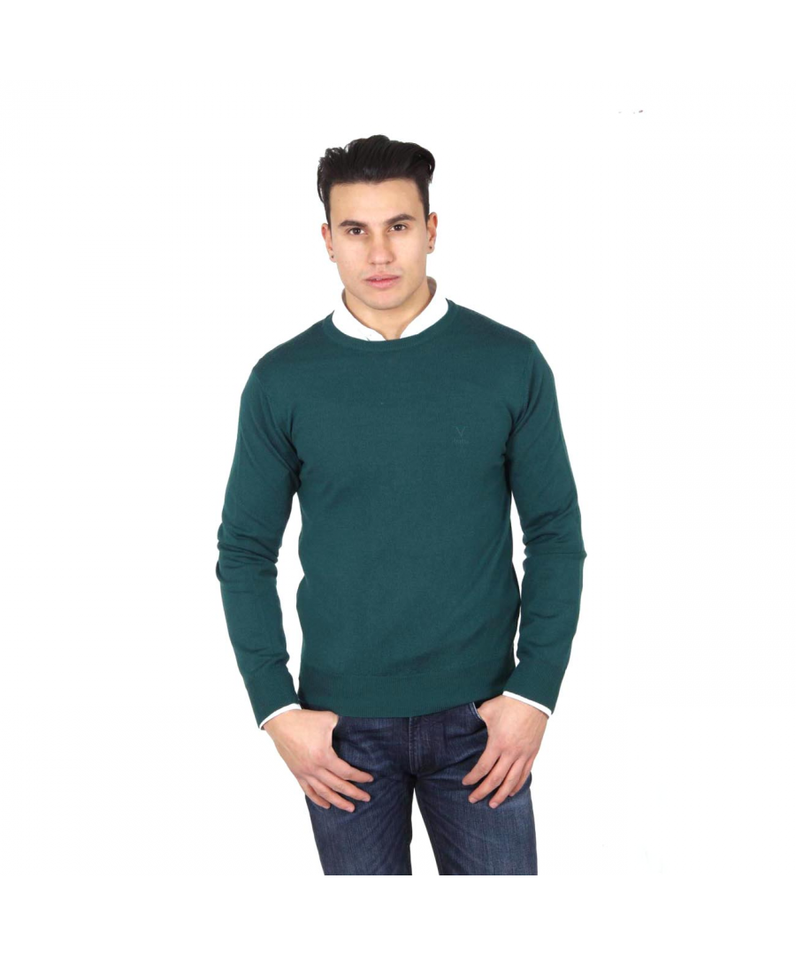 Image for V 1969 Italia mens round neck sweater 9800 VERDONE