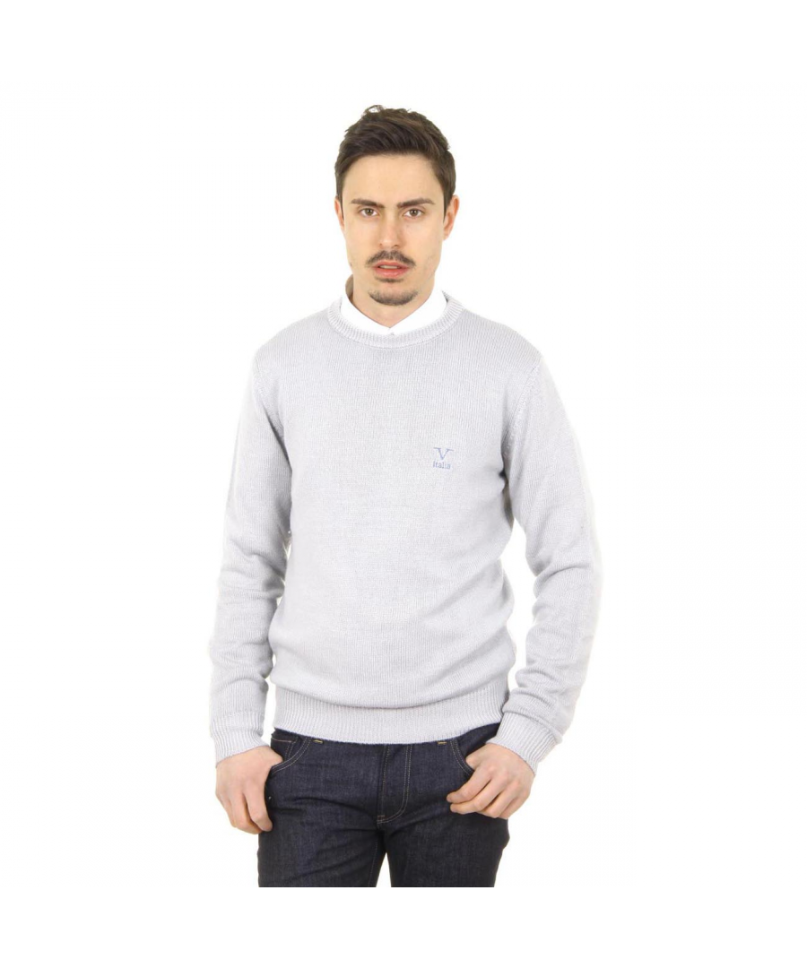 Image for V 1969 Italia mens round neck sweater 9802 GIROCOLLO GRIGIO MEDIO