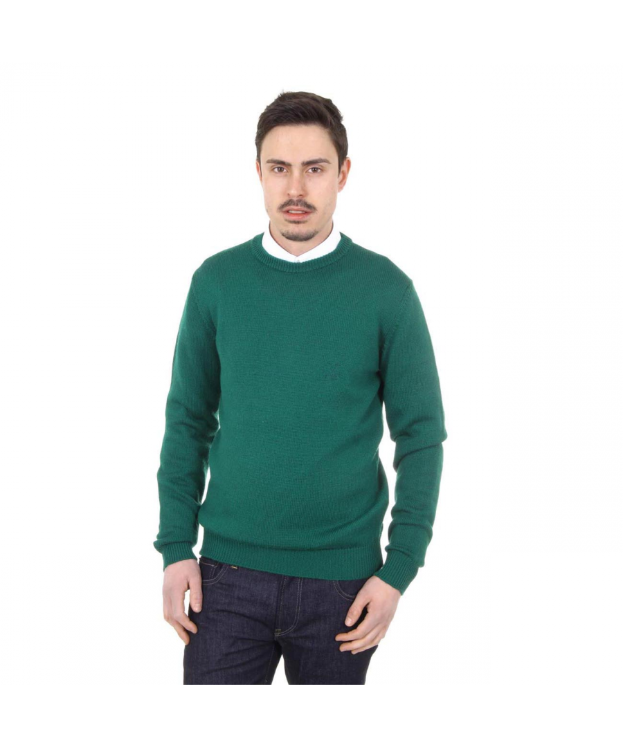Image for V 1969 Italia mens round neck sweater 9802 GIROCOLLO VERDONE