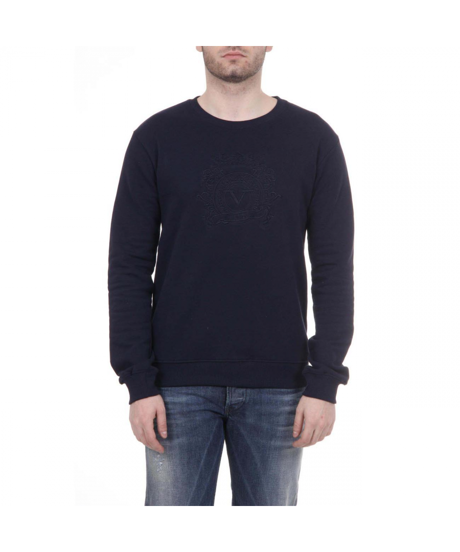 Image for V 1969 Italia Mens Sweater ART. 4469 DARK BLUE