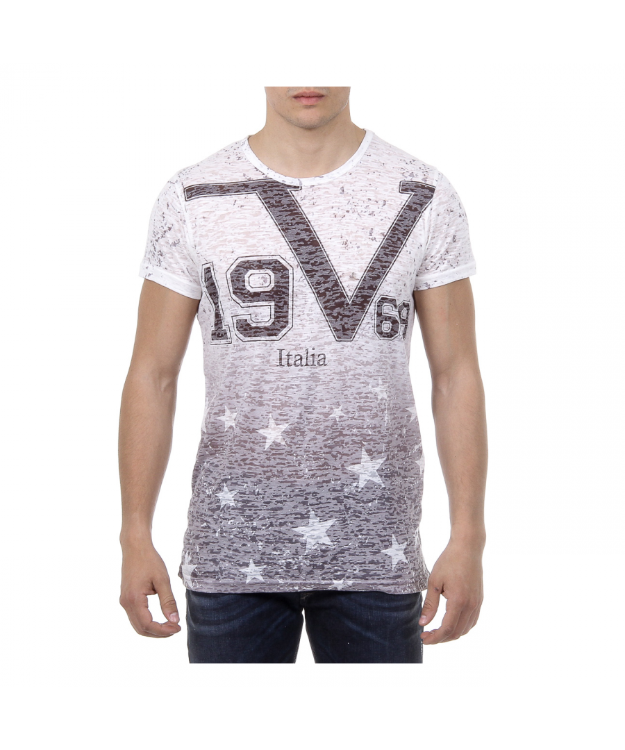 Image for V 1969 Italia Mens T-shirt Short Sleeves Round Neck Multicolor DAVID