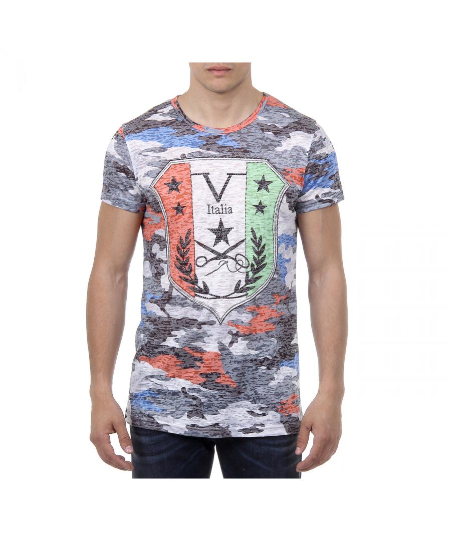 Image for V 1969 Italia Mens T-shirt Short Sleeves Round Neck Multicolor OWEN