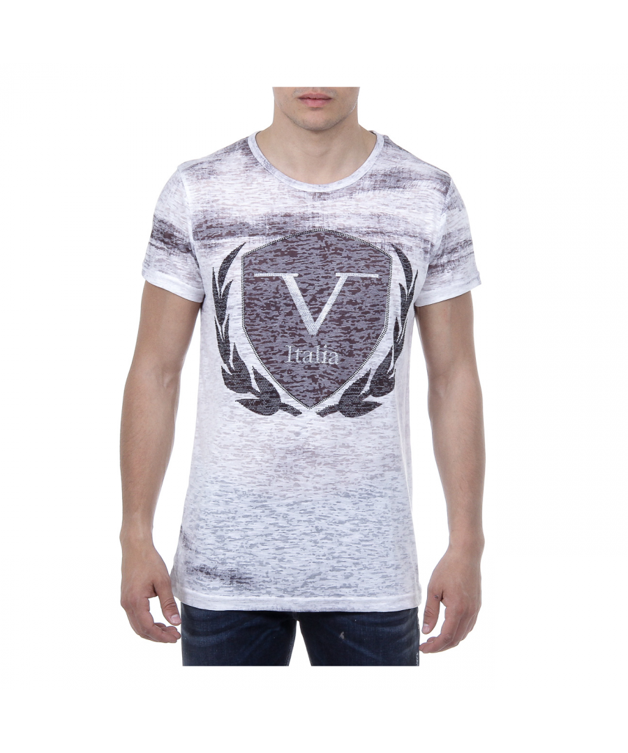 Image for V 1969 Italia Mens T-shirt Short Sleeves Round Neck White LOGAN