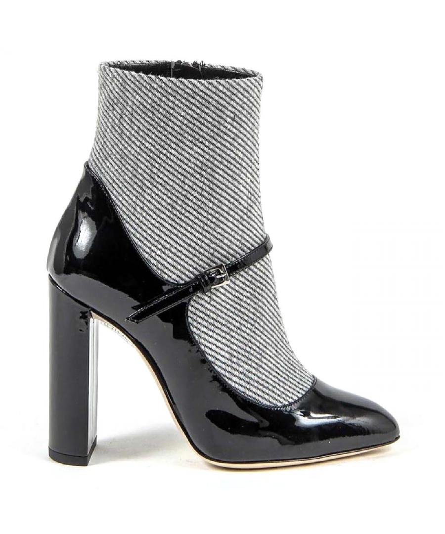 Image for V 1969 Italia Womens Ankle Boot 3101010 VERNICE NERO