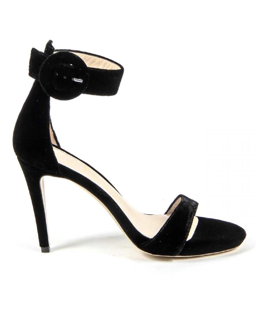 Image for V 1969 Italia Womens Ankle Strap Sandal 3124693 VELLUTO NERO