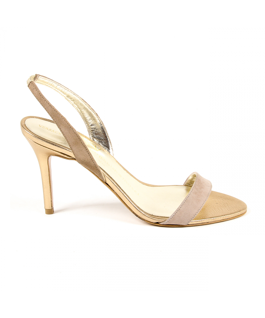 Image for V 1969 Italia Womens Ankle Strap Sandal Gold ELEONOR