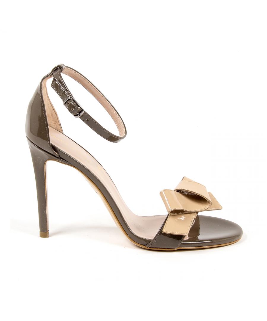 Image for V 1969 Italia Womens Ankle Strap Sandal Taupe BEATRIZ