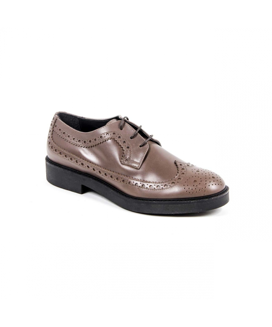 Image for V 1969 Italia Womens Brogue Shoe B1670 VITELLO TAUPE