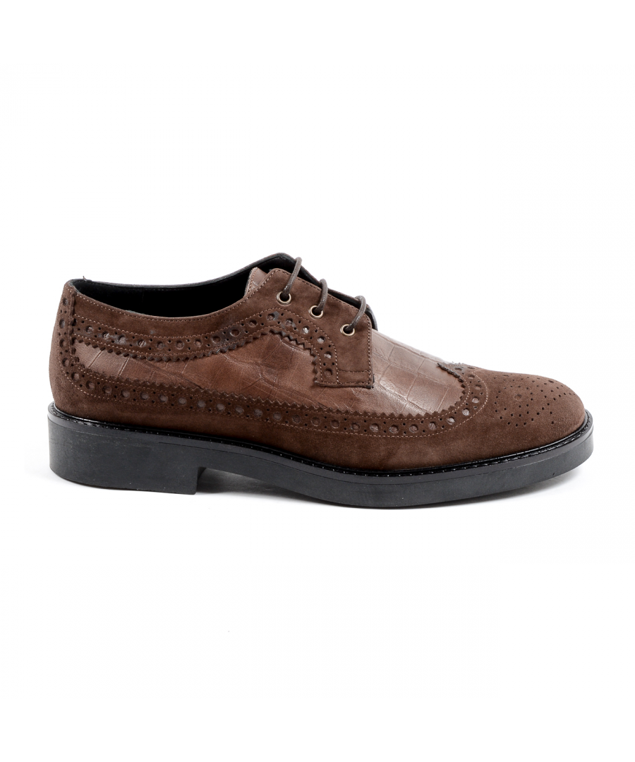 Image for V 1969 Italia Womens Brogue Shoe Brown TRENTO