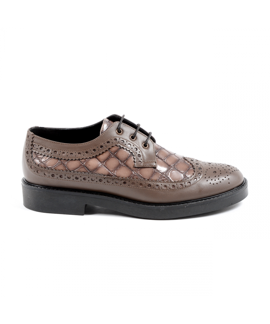 Image for V 1969 Italia Womens Brogue Shoe Taupe TRENTO