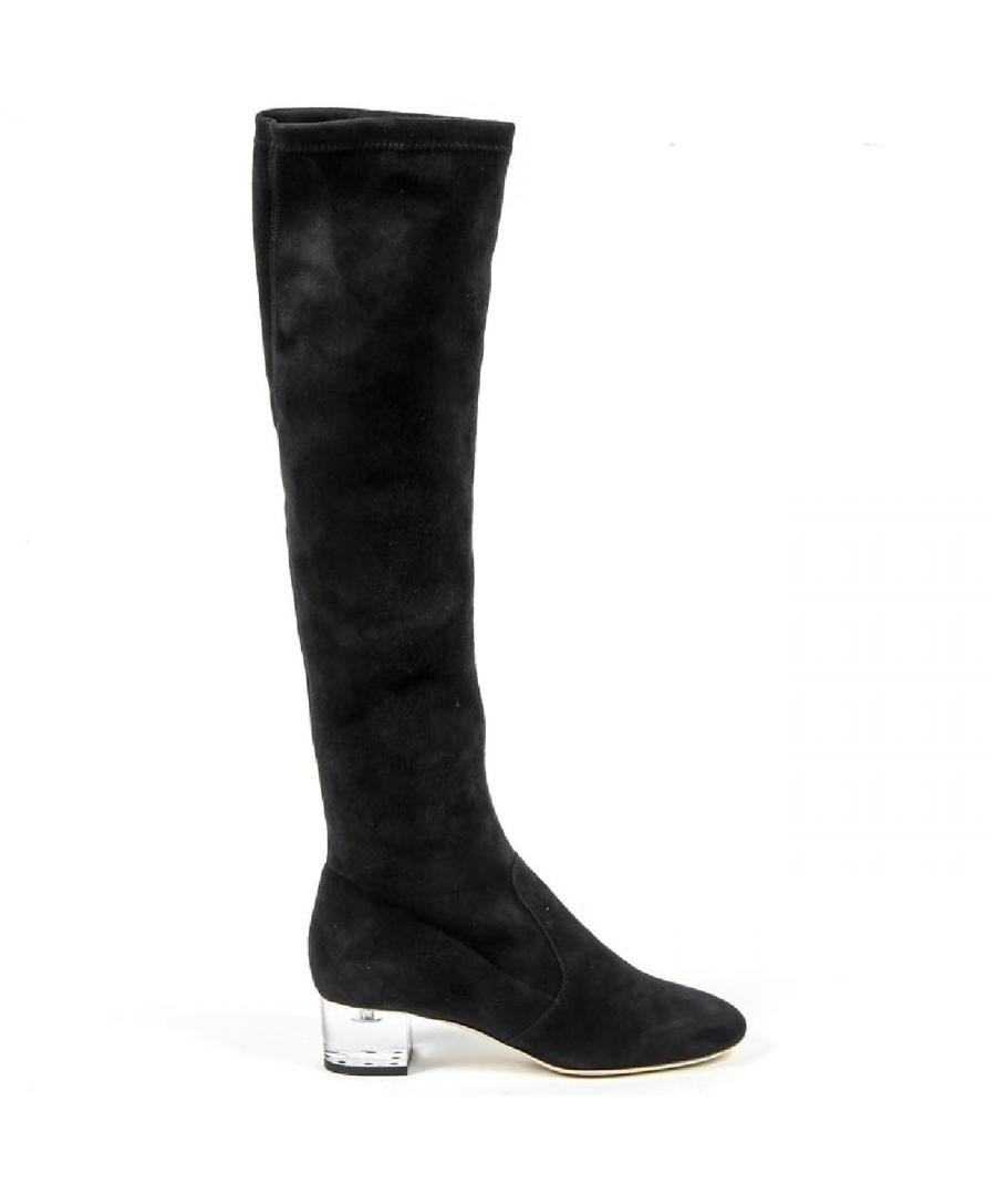 Image for V 1969 Italia Womens High Boot 3123667 CAMOSCIO NERO
