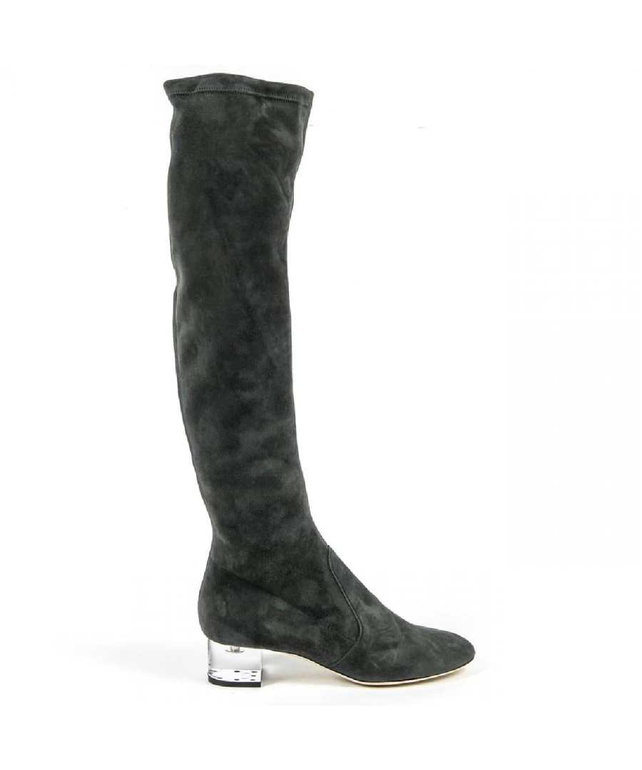 Image for V 1969 Italia Womens High Boot 3123667 CAMOSCIO VERDE FERMO