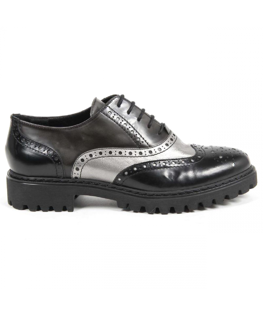 Image for V 1969 Italia Womens Oxford Shoe 5135 ABRASIVATO NERO