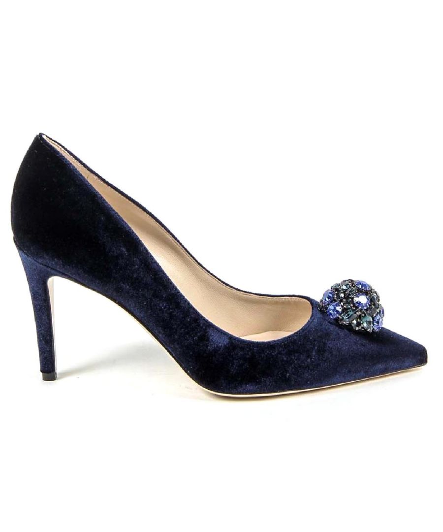 Image for V 1969 Italia Womens Pump 3104104 VELLUTO BLU ROYAL