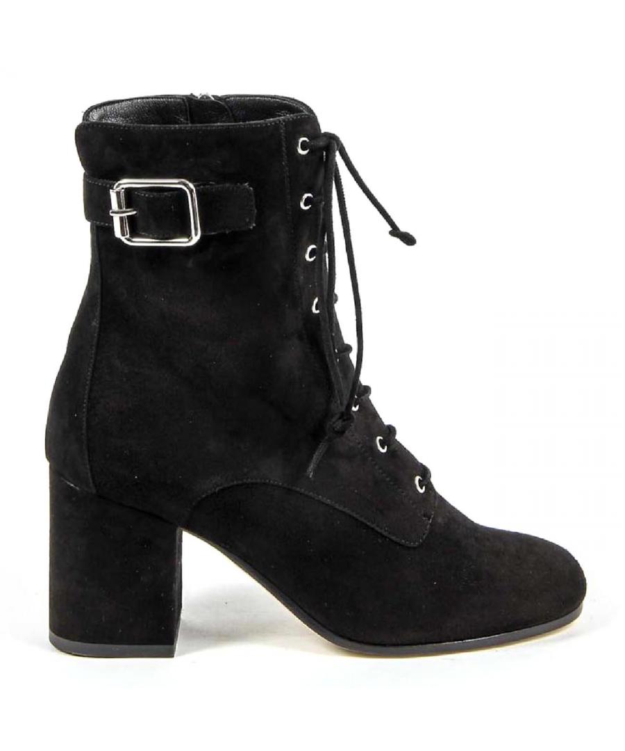 Image for V 1969 Italia Womens Short Boot 3115425 CAMOSCIO NERO