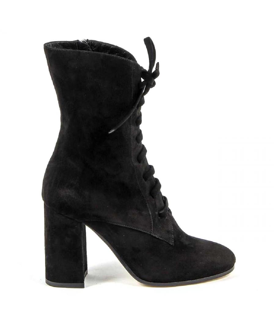 Image for V 1969 Italia Womens Short Boot 3120575 CAMOSCIO NERO