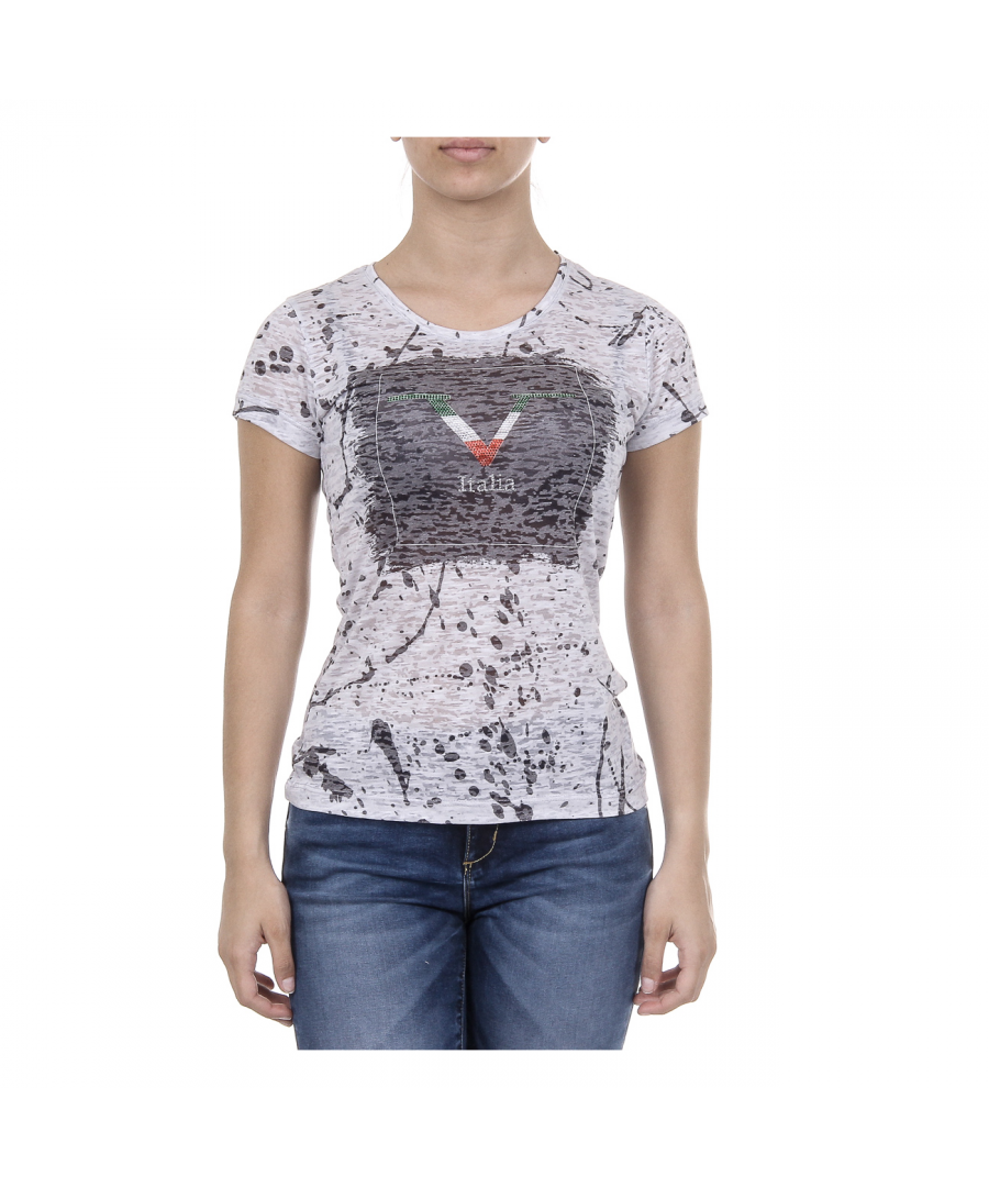 Image for V 1969 Italia Womens T-shirt Short Sleeves Round Neck Grey AVA