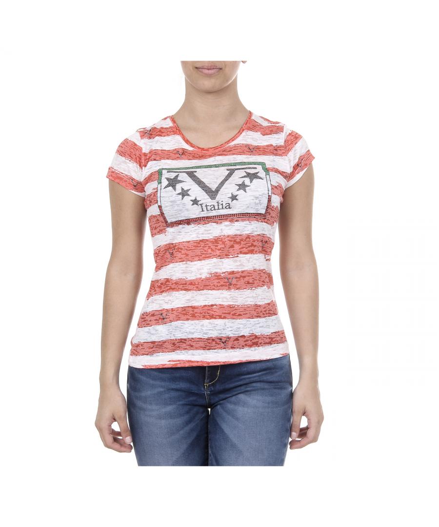 Image for V 1969 Italia Womens T-shirt Short Sleeves Round Neck Multicolor CHARLOTTE