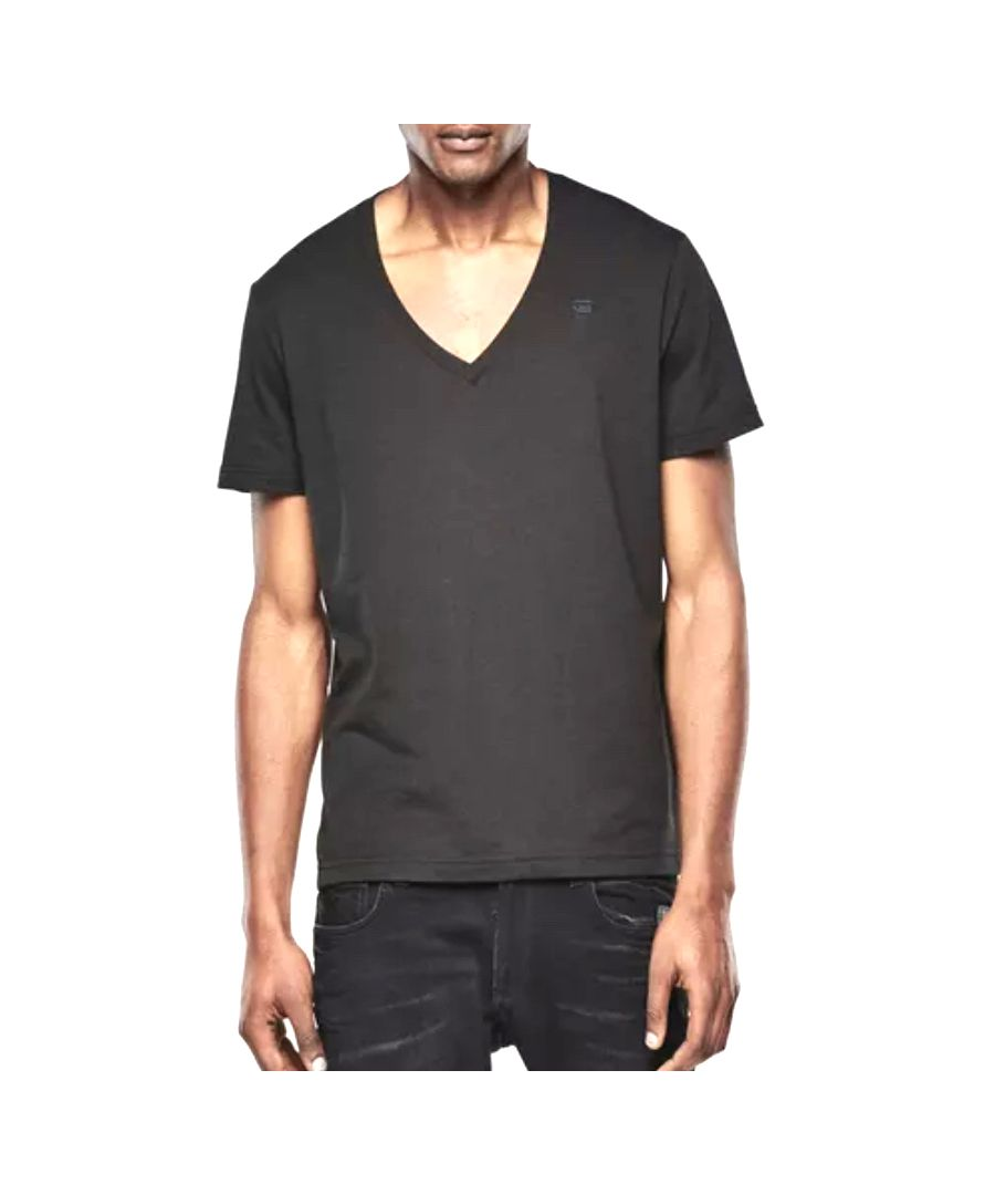 Image for G-Star V-Neck Double Pack Regular Fit Black T-Shirt