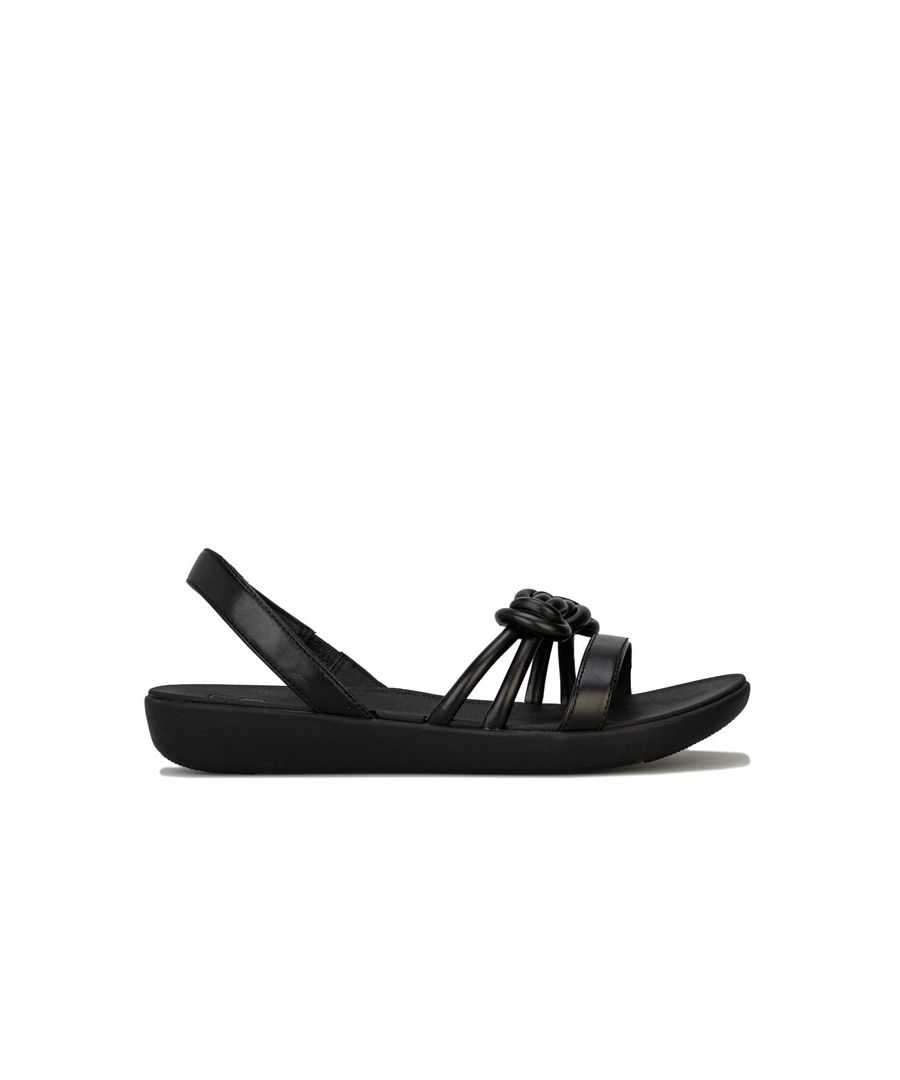 Image for Women's Fit Flop Tiera Back Strap Sandals in Black