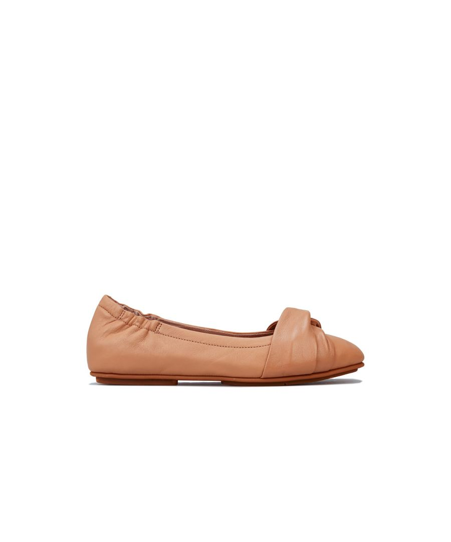 Image for Women's Fit Flop Twiss Ballerina Shoes in Nude
