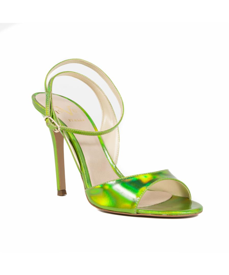 Image for V1969 Italia Women's Ankle Strap Sandal Green 302 CANGIANTE VERDE