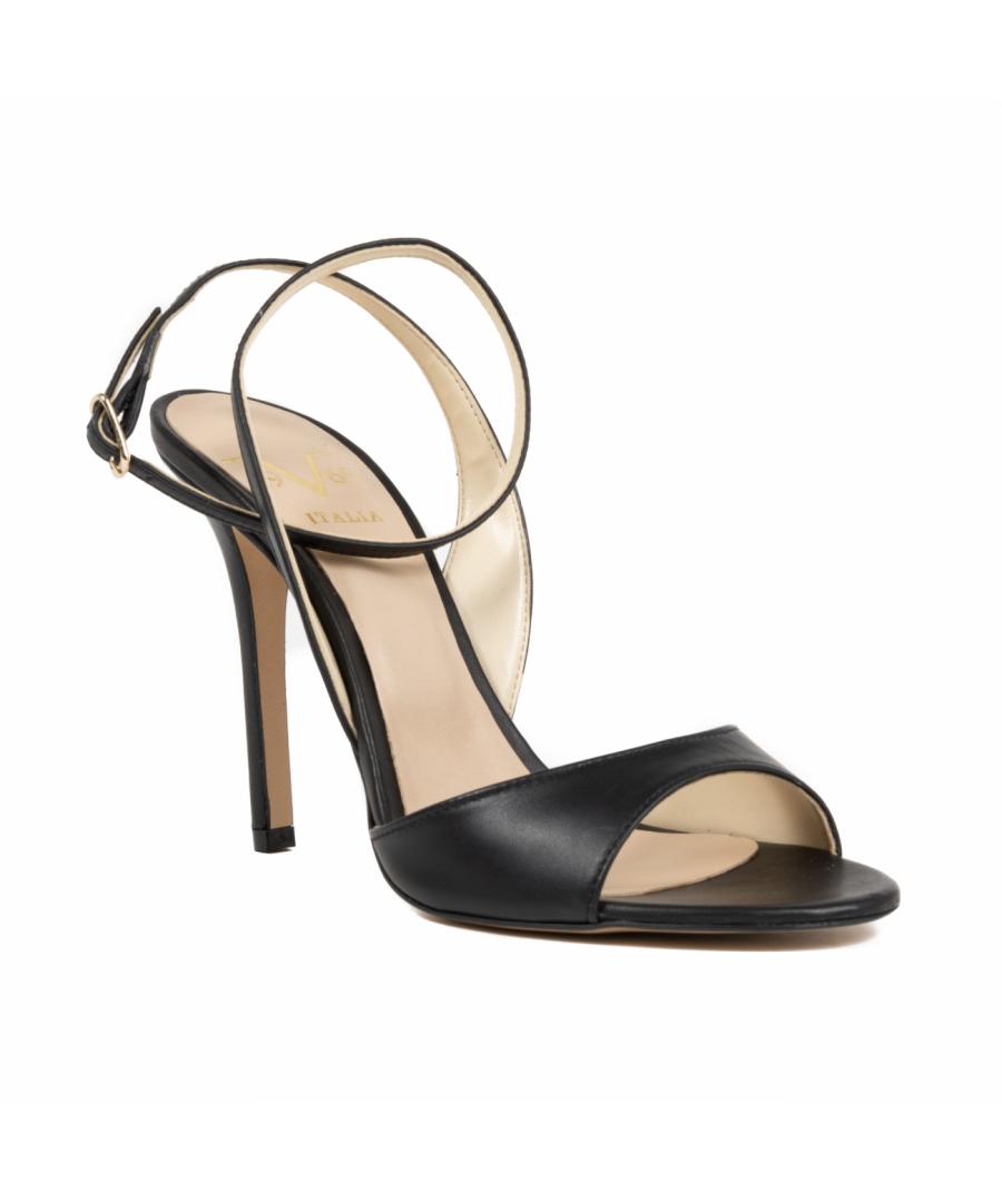 Image for V1969 Italia Women's Ankle Strap Sandal Black 302 NAPPA NERO