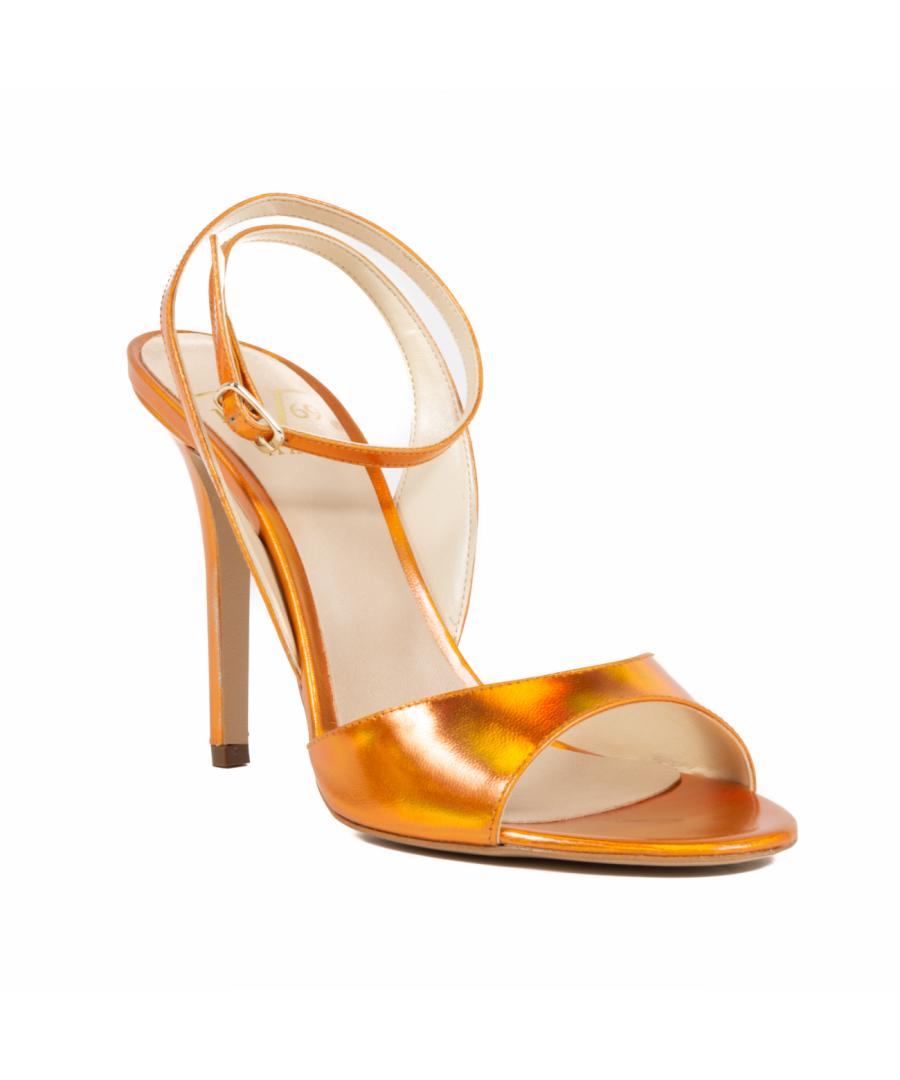 Image for V1969 Italia Women's Ankle Strap Sandal Orange 302 SPECCHIO ARANCIO