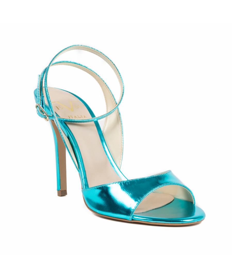 Image for V1969 Italia Women's Ankle Strap Sandal Light Blue 302 SPECCHIO AZZURRO