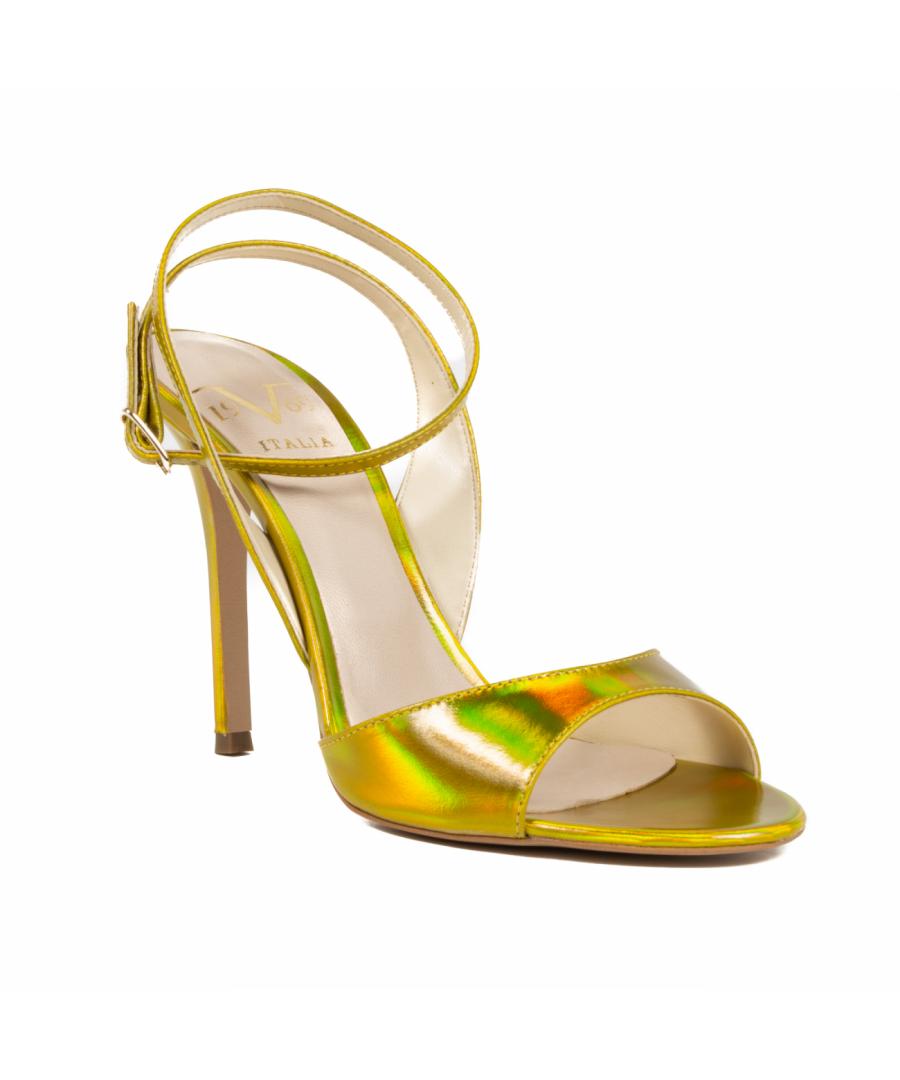 Image for V1969 Italia Women's Ankle Strap Sandal Yellow 302 SPECCHIO GIALLO
