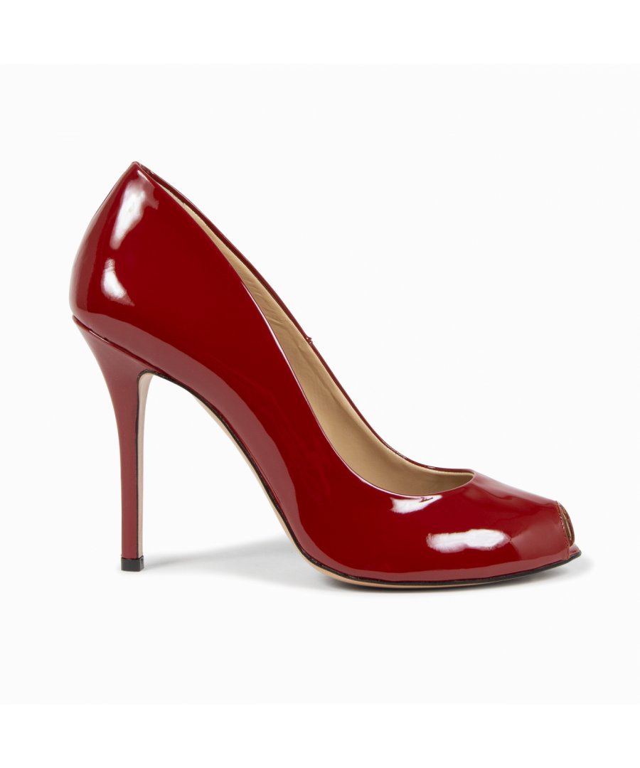 Image for V1969 Italia Womens Pump Open Toe Dark Red 303 VERNICE AMARANTO