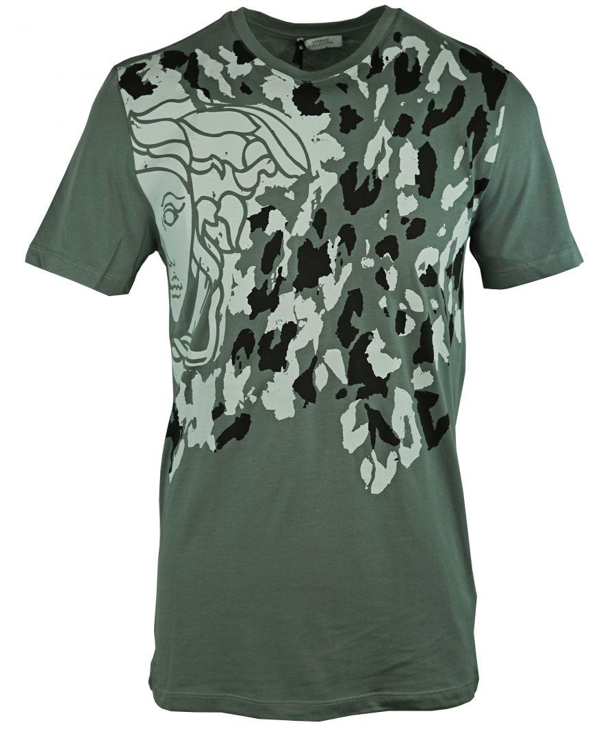 Image for Versace Collection V800485S VJ00028 V028 Grey T-Shirt