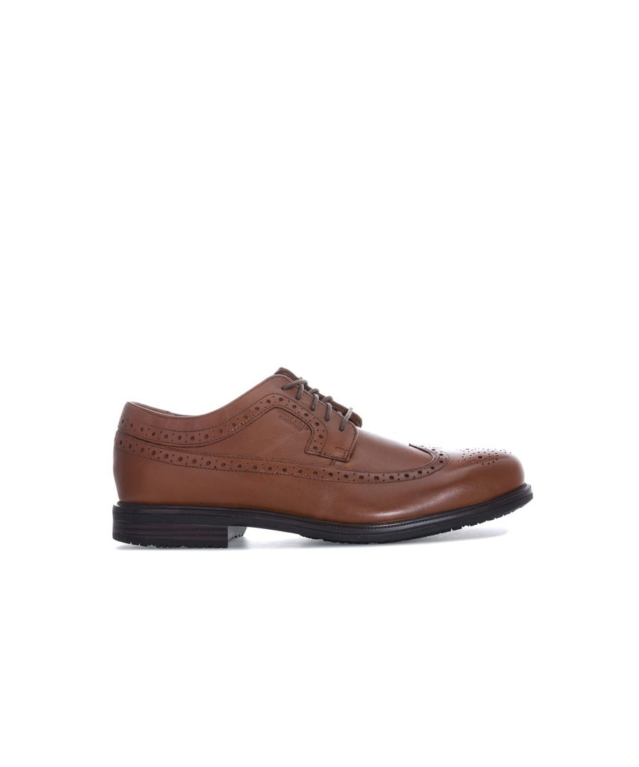 Image for Men's Rockport Essential Details 2 Wing Tip Shoes in Tan