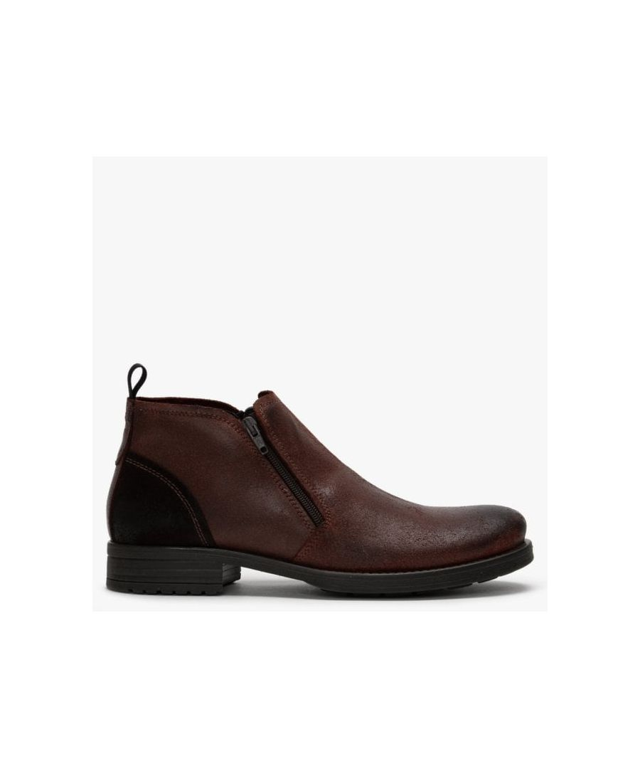 Image for Ottonkern Leather Double Zip Ankle Boots