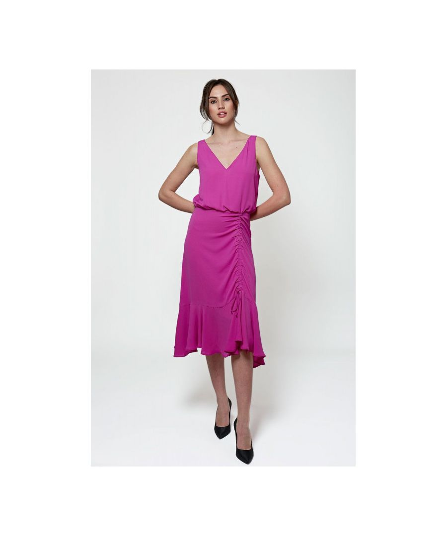 Image for Fluid Frills Midi Dress