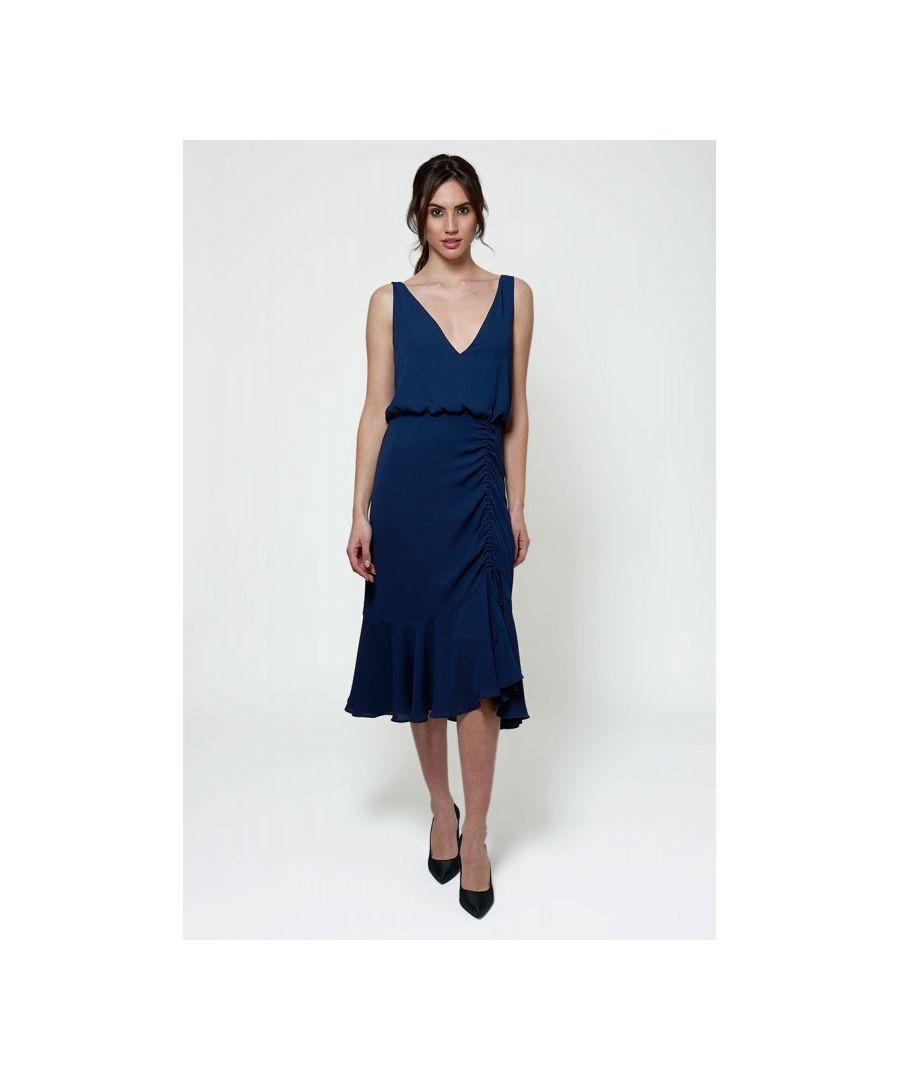 Image for Fluid Frills Midi Dress