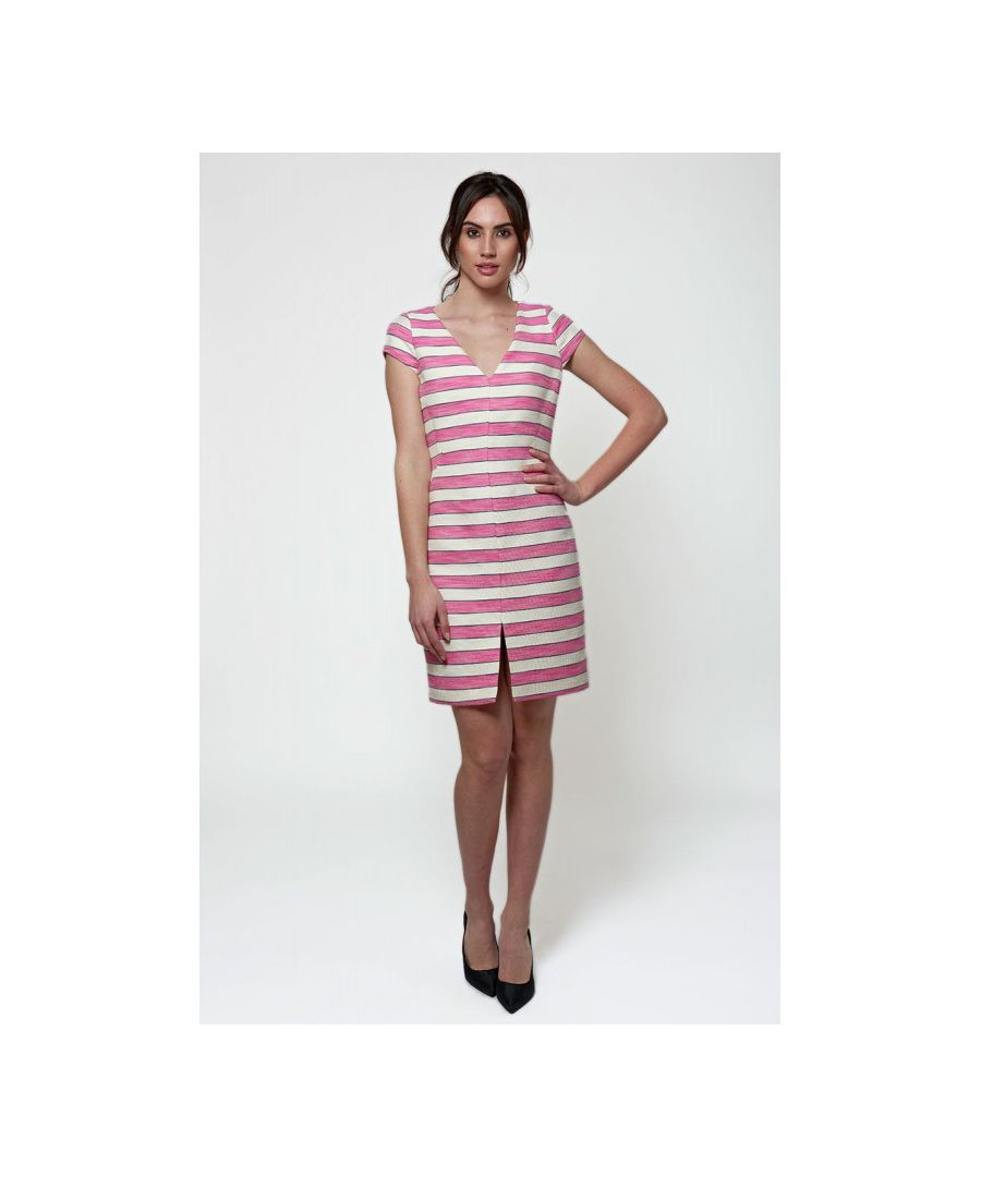 Image for Striped Jacquard Knee Length Dress