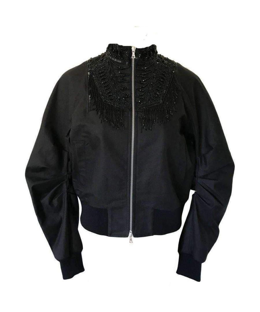 Image for Dries Van Noten Viard Beaded Collar Bomber Jacket