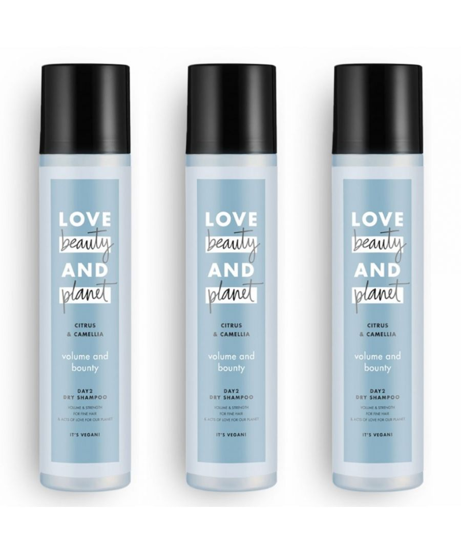 Image for Love Beauty & Planet Volume and Bounty Citrus & Camellia Dry Shampoo 245ml (Pack of 3)
