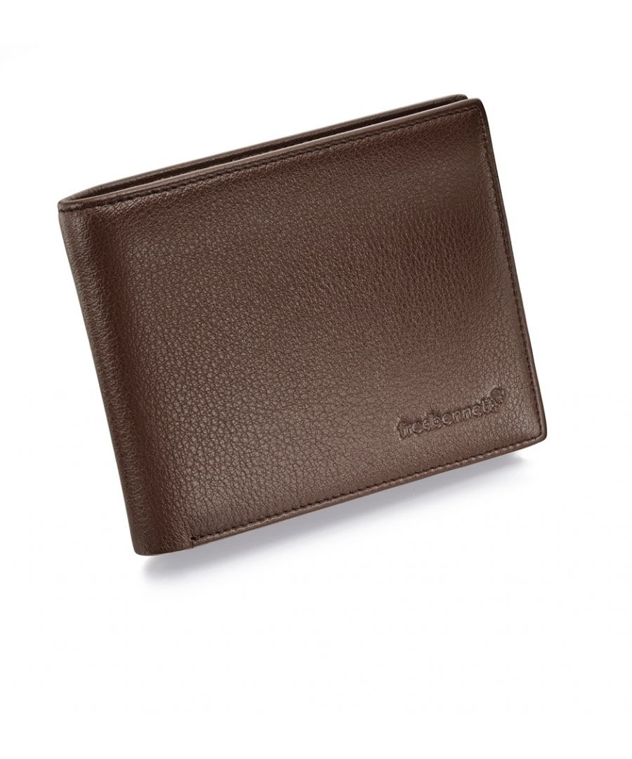 Image for Fred Bennett Brown Leather Mens Wallet and Gift Box