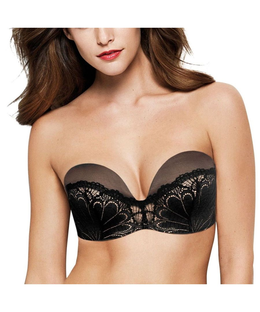 Image for Wonderbra Refined Glamour Strapless Push Up Bra in Black