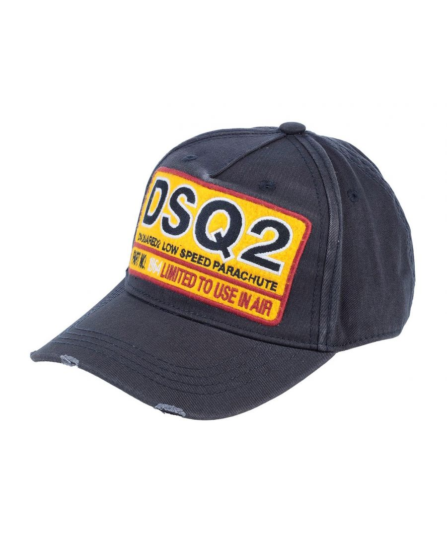 Image for Dsquared2 Navy Blue Low Speed Parachute DSQ2 Hat
