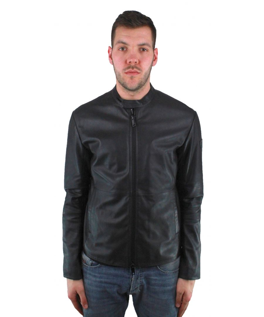 Image for Emporio Armani W1B50P W1P52 999 Leather Jacket