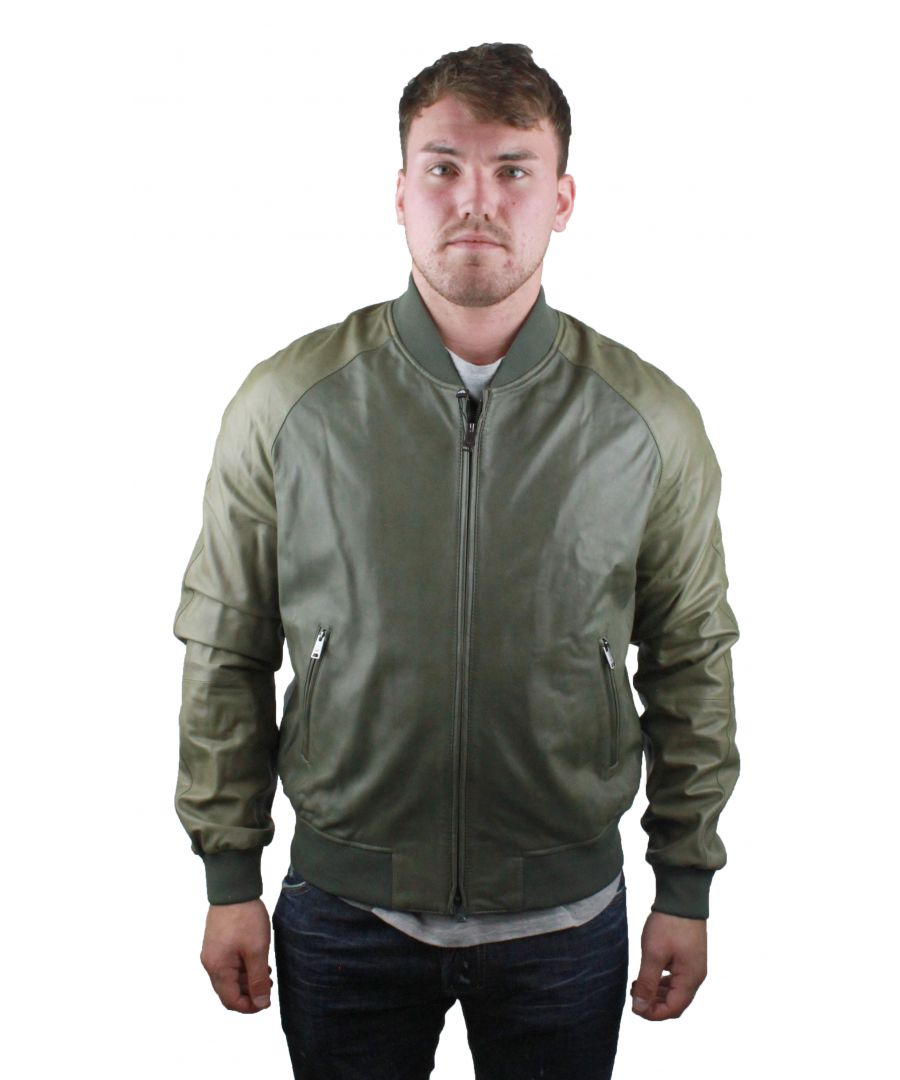 Image for Emporio Armani W1B53P W1P59 Leather Jacket