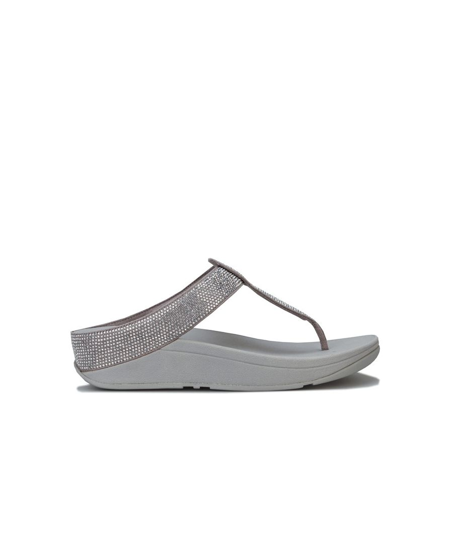 Image for Women's Fit Flop Isabelle Toe Thong Sandals in Silver