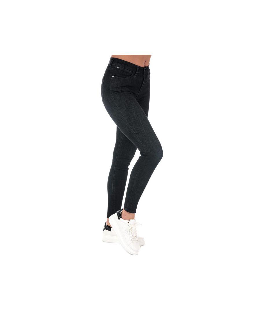 Image for Women's Wrangler High Rise Skinny Jeans in Black